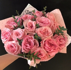 Букет невесты недорого из роз и пионов, тычинки для цветов купить в минске